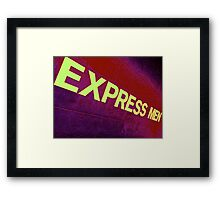 Express Men Framed Print