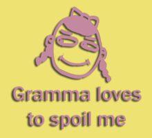 gramma spoils - pink Baby Tee