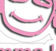 gramma spoils - pink Sticker