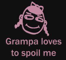 grampa spoils - pink Kids Tee