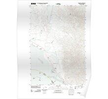 USGS Topo Map Washington Chinook 20110818 TM Poster