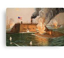 Battle of Hampton Roads Canvas Print