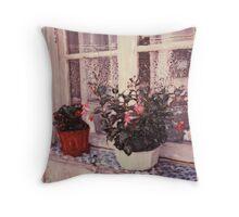 Red Pot White Pot Throw Pillow