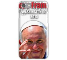 Pope Francis 2015 Wash DC Visit-Filigree with solid background iPhone Case/Skin