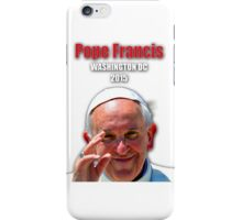 Pope Francis 2015 Wash DC Visit-close up iPhone Case/Skin