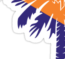 Orange and Purple Palmetto Moon Sticker