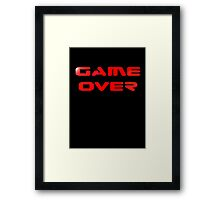 Game Over T-Shirt Sticker Video Gamers Tee Framed Print
