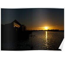 Sunset at Attenborough Nature Reserve  Poster