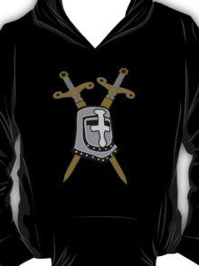 Templar helmet with swords t-design T-Shirt