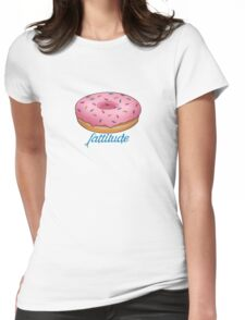 Fattitude - Pink Donut Womens Fitted T-Shirt