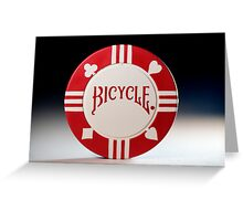 Pick a Suit - Red Poker Chip Greeting Card
