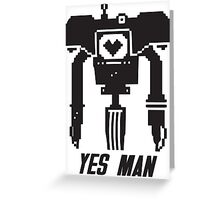 YES MAN: PIXEL VECTOR Greeting Card