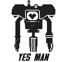 YES MAN: PIXEL VECTOR Photographic Print
