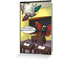 Moths In Classroom by Londons Times Cartooons Greeting Card