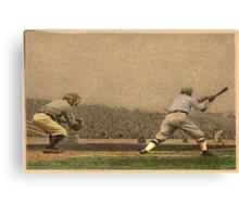 Vintage Style Baseball Memorabilia Canvas Print