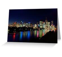Brissie...by night - Brisbane city Qld Greeting Card