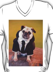Pug as Frank from Men in Black T-Shirt