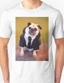 Pug as Frank from Men in Black Unisex T-Shirt