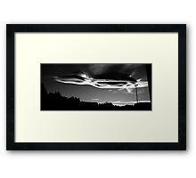 College Heights Skyline at Dusk Framed Print