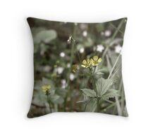 Buttercups Throw Pillow