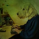 As He Sat At The Computer, He Suddenly Felt Very Woof! by Sandra Cockayne