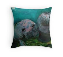 Underwater Greeting Throw Pillow