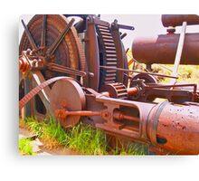 Massive steam powered mining winch Canvas Print