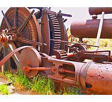 Massive steam powered mining winch Photographic Print