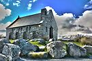 Lake Tekapo and the church of the good shepard by EblePhilippe