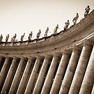 The Tall Colonnades of St. Peter's Piazza  by dansLesprit