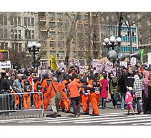Anti-war Demonstration in Union Square, New York City Photographic Print