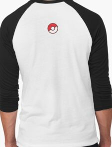 Pokeball (Flat Colors) Men's Baseball ¾ T-Shirt