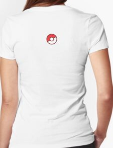 Pokeball (Flat Colors) Womens Fitted T-Shirt