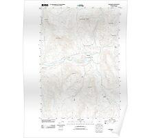 USGS Topo Map Oregon Monument 20110822 TM Poster