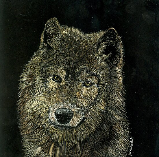 Wolf Portrait by JessKale