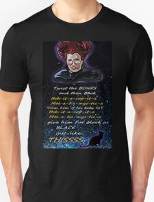 Hocus pocus Twist the bones Unisex T-Shirt