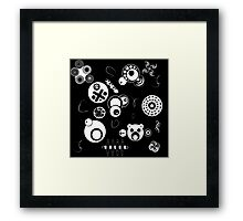 cartoons inverted Framed Print