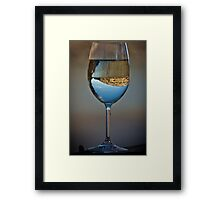 Drink to the View Framed Print