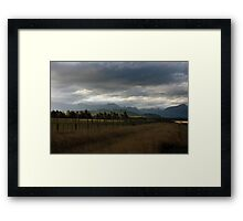 South island, New Zealand Framed Print