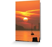 Sunset. Rio Tejo. Lisboa Greeting Card