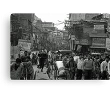 rush our in Delhi Canvas Print