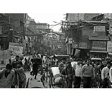 rush our in Delhi Photographic Print
