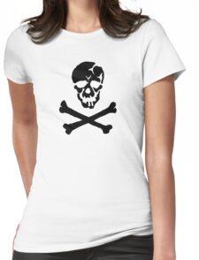 Skull Squadron (black skull) Womens Fitted T-Shirt