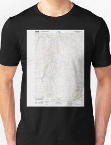 USGS Topo Map Oregon Wall Rock Springs 20110819 TM T-Shirt