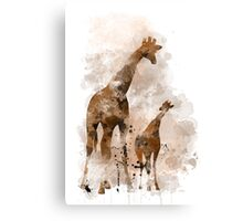 Giraffe and Baby Canvas Print
