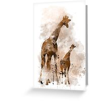 Giraffe and Baby Greeting Card
