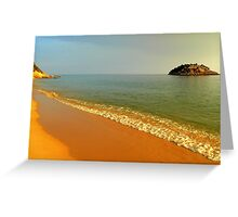 the sea kisses the earth incessantly... Greeting Card
