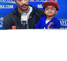 Derrick Rose and Son D Rose Jr Post game by spink2kproducts