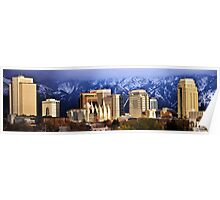 Salt Lake City - Storm Light Poster