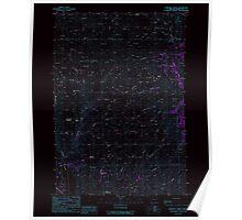 USGS Topo Map Oregon Lawrence Creek 280486 1988 24000 Inverted Poster
